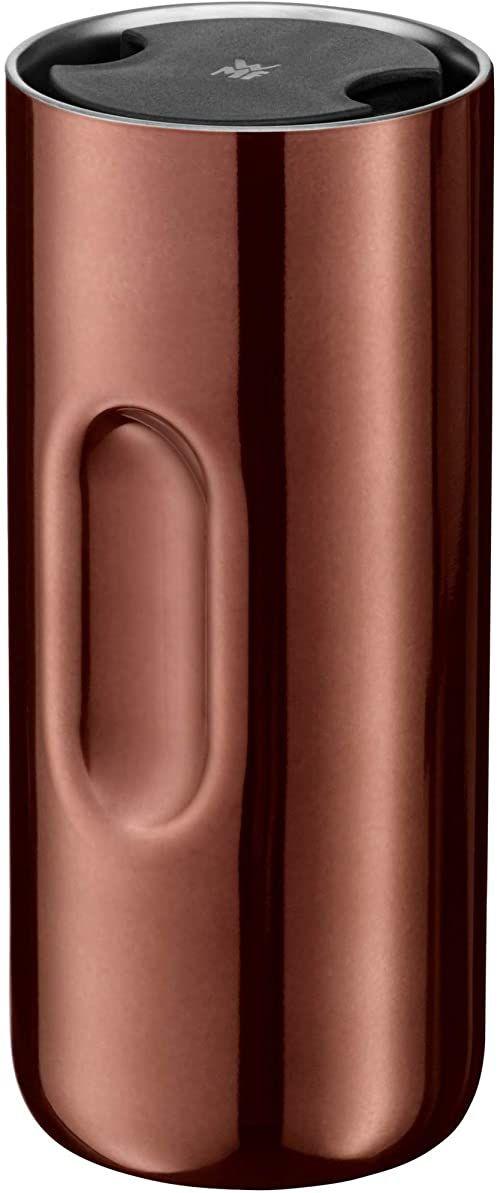 WMF Motion kubek termiczny 350 ml, kubek na wynos do herbaty lub kawy, termos utrzymuje ciepło 6 h/zimno przez 12 h, otwór 360 , miedziany
