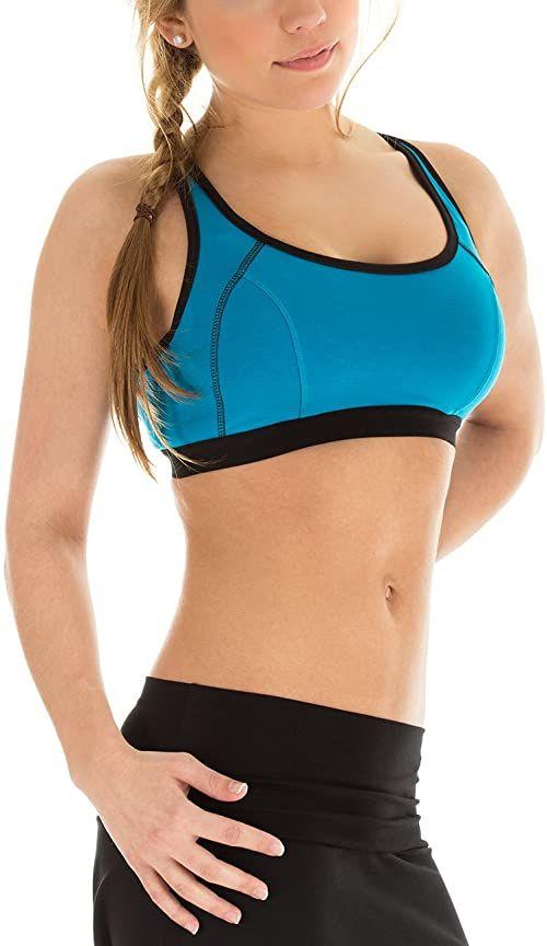 WINSHAPE damski biustonosz do fitnessu, czas wolny, push up, turkusowy, XS