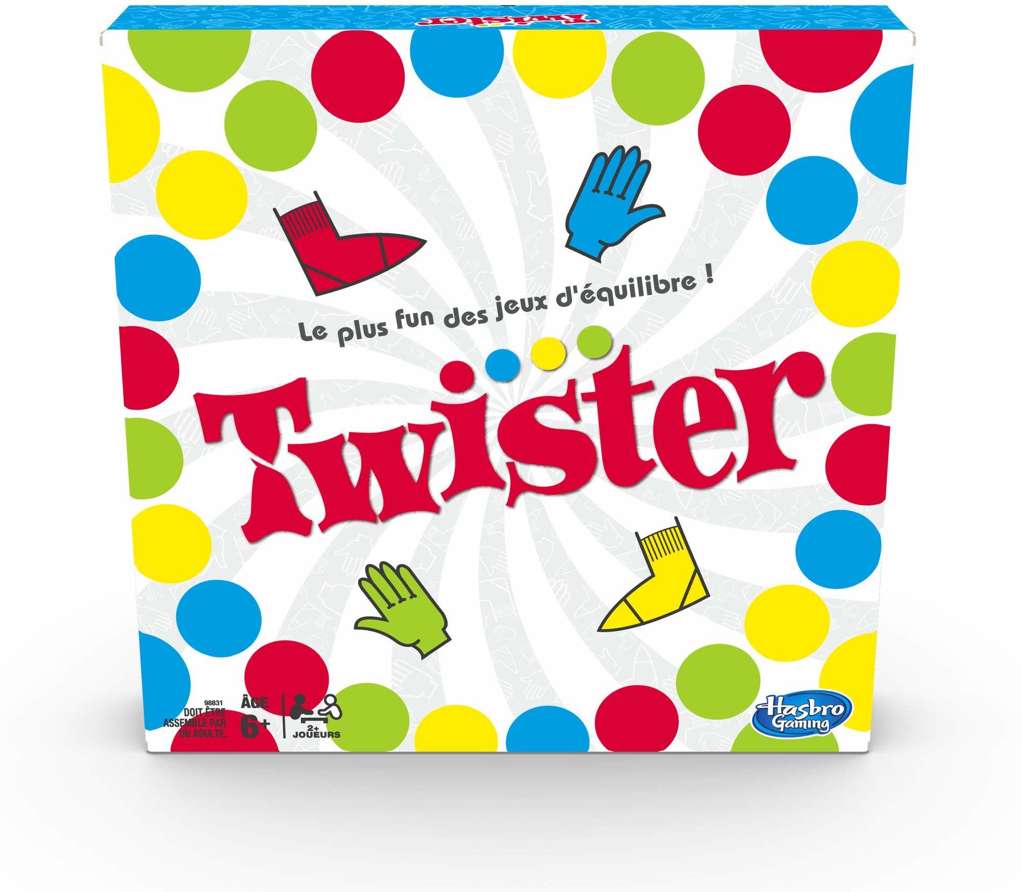 Twister  gra towarzyska, zabawa z równowagą, wersja francuska