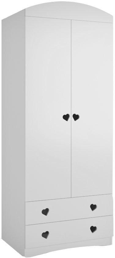 Biała nowoczesna szafa dziecięca - Nolia 6X