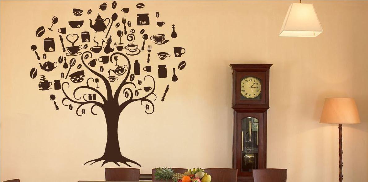 Naklejka kuchenne drzewo