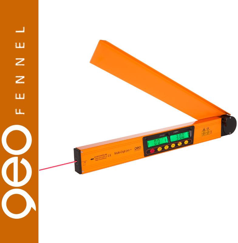 Kątomierz z poziomicą laserową MULTI DIGIT PRO + geoFENNEL