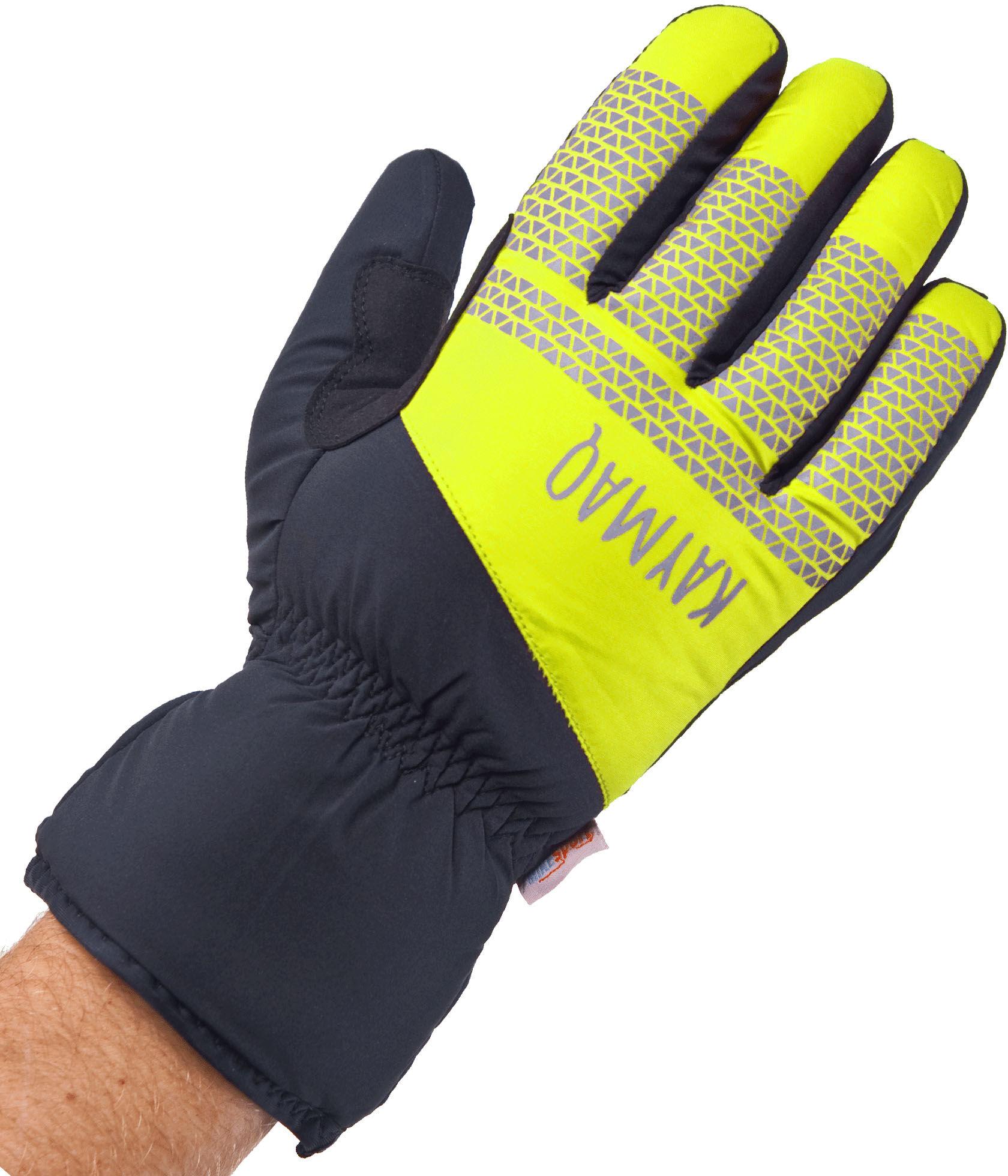 KAYMAQ GLW-002 zimowe rękawiczki rowerowe, czarny-fluor Rozmiar: L,KaymaqGLW-002blkfluye