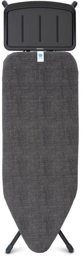 Brabantia - deska do prasowania rozmiar 124 x 45 cm, rama czarna 25 mm - podstawa na generator pary - denim black