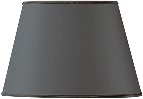 Klosz lampy, owalny, Ø 25 x 16,5/15,5 x 10,5/16,5 cm, czarny