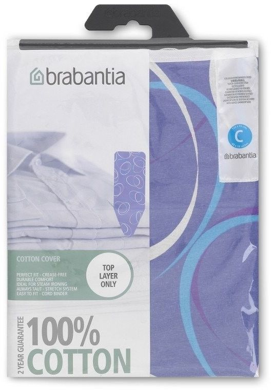 Brabantia - pokrowiec na deskę do prasowania 124 x 45cm - bez pianki - moving circles