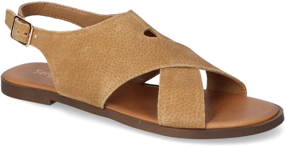 Sandały Sergio Leone SK060 Beżowe zamsz