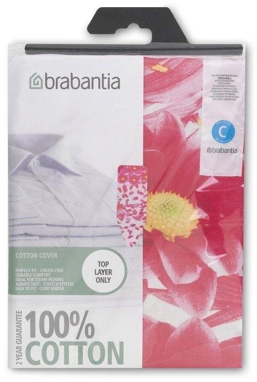 Brabantia - pokrowiec na deskę do prasowania 124 x 45cm - bez pianki - pink santini