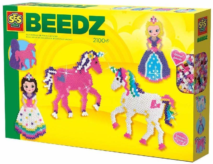 SES creative 06216 Beedz koraliki do prasowania jednorożec i księżniczki