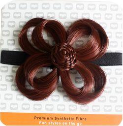 Love Hair Extensions Kwiaty na elastycznej opasce na głowę kolor 34  ciepła miedź, opakowanie 1 szt. (1 x 1 sztuka)