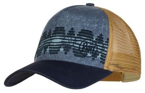 BUFF Czapka z daszkiem TRUCKER CAP Tzom Stone Blue - Tzom Stone Black