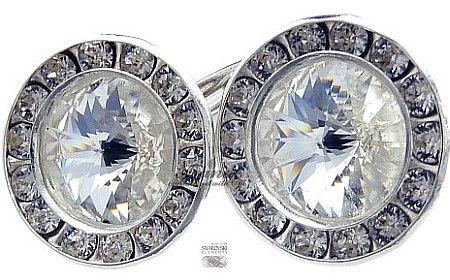 Kryształy ozdobne kolczyki CRYSTAL SREBRO