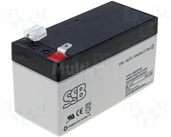 Akumulator kwasowo-ołowiowy 12V 1,3Ah żywotność 6-9 lat