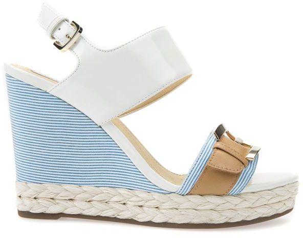 Damskie sandały DONNA JANIRA WHITE/CARAMEL D82P6E00254C1Z5G