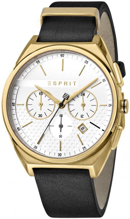 Esprit ES1G062L0025 Slice Chrono White Gold Black Męski chronograf