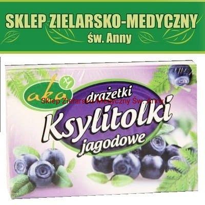 Ksylitolki Jagodowe cukierki pudrowe z ksylitolem 40g