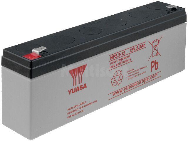 Akumulator kwasowo-ołowiowy YUASA 12V 2,3Ah żywotność 3-5 lat