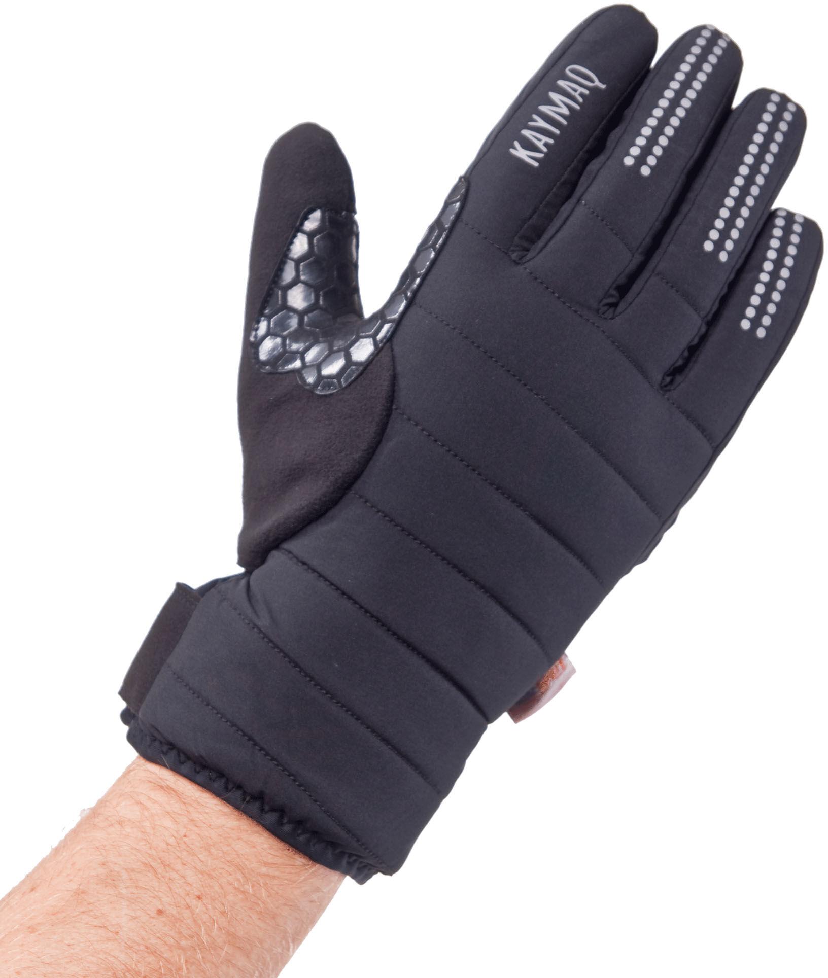 KAYMAQ zimowe rękawiczki rowerowe, czarny GLW-003 Rozmiar: M,KaymaqGLW-003blk