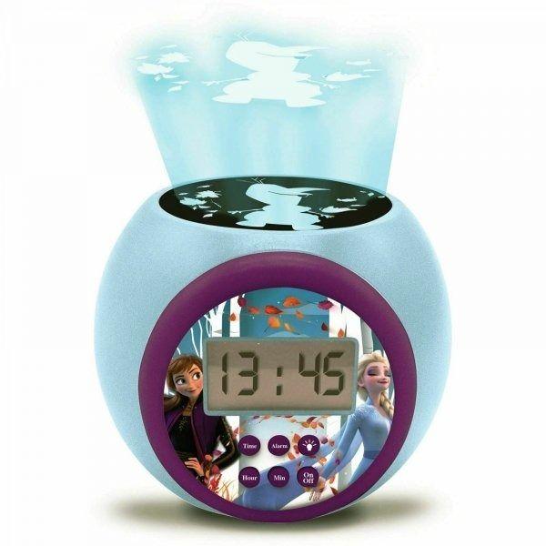 Budzik zegar z projektorem kraina lodu disney frozen