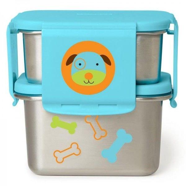 Skip hop - Stalowe Pudełko Śniadaniowe Pies