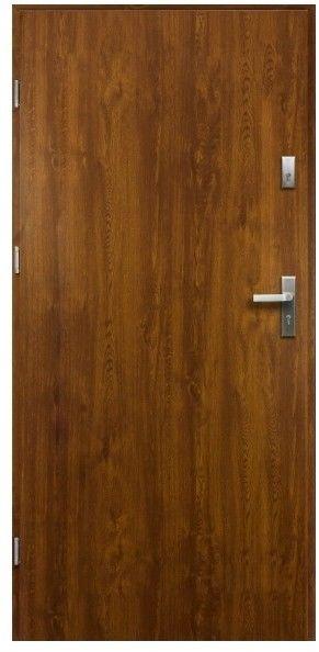 Drzwi zewnętrzne pełne O.K. Doors Artemida P55 80 lewe złoty dąb