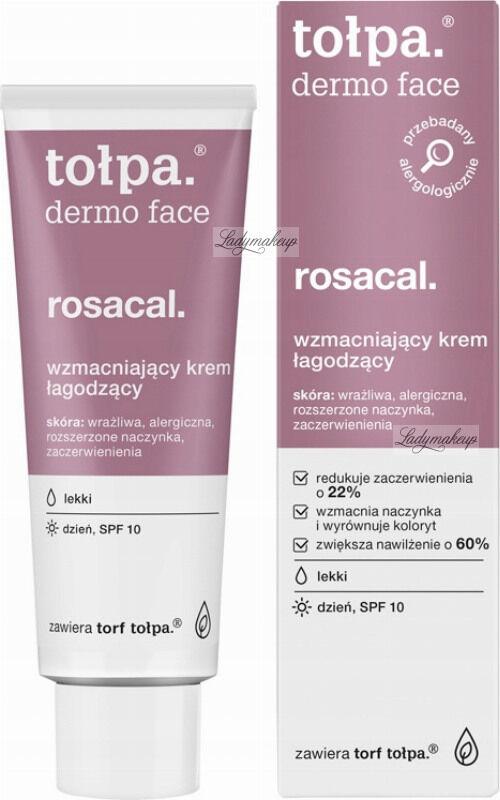 Tołpa - Dermo Face Rosacal - Lekki, wzmacniająco-łagodzący krem do twarzy - SPF10 - 40 ml