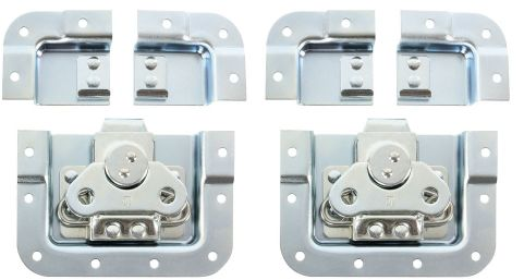 Adam Hall Hardware SPLIT-LID - Komplet dwóch zamków motylkowych, krótkie, zagięte, głębokość: 14 mm, podzielna obudowa, w woreczku