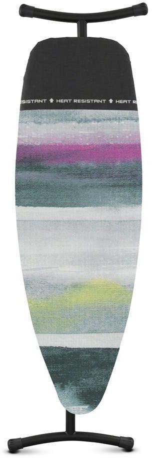 Brabantia - deska do prasowania rozmiar 135 x 45 cm, rama czarna 35 mm - pokrowiec z miejscem na gorące żelazko - morning breeze