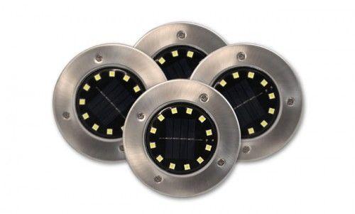 Lampa LED solarna 12xSMD wbijana ogrodowa - 4 szt.