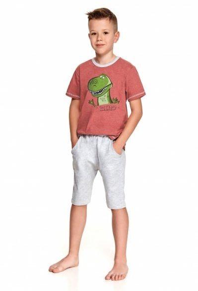 Taro alan 2215 bordowa piżama chłopięca