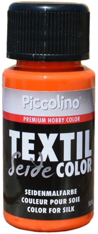 Farba do jedwabiu pomarańczowa 50 ml - farba do jedwabiu Piccolino Textil Color - farba tekstylna jedwab