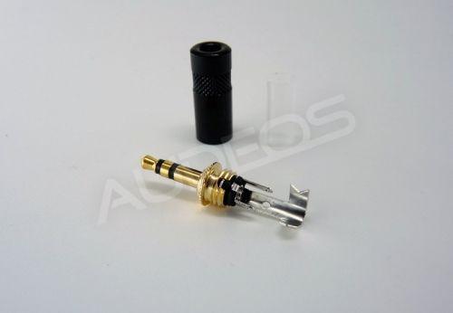 Neutrik / Rean NYS231BG wtyk jack 3.5mm TRS stereo