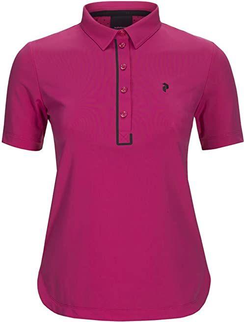 PEAK PERFORMANCE Damska koszulka Trinity Polo, Fusion Pink, L