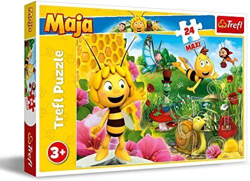 Trefl W Świecie Pszczółki Mai Puzzle 24 Maxi o Wysokiej Jakości Nadruku dla Dzieci od 3 lat