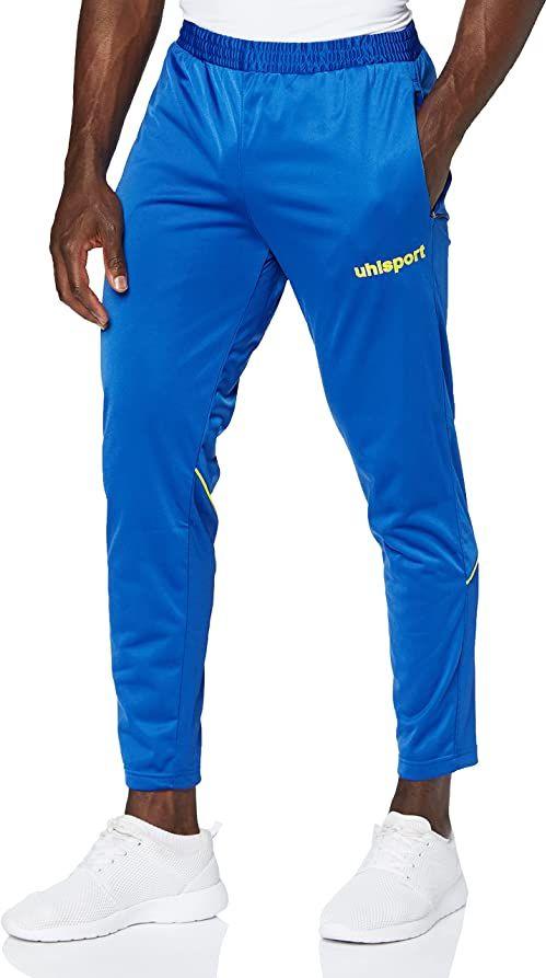 Uhlsport spodnie męskie STREAM 22 TRACK PANTS, lazurowo-niebieskie/limonkowo-żółte, L