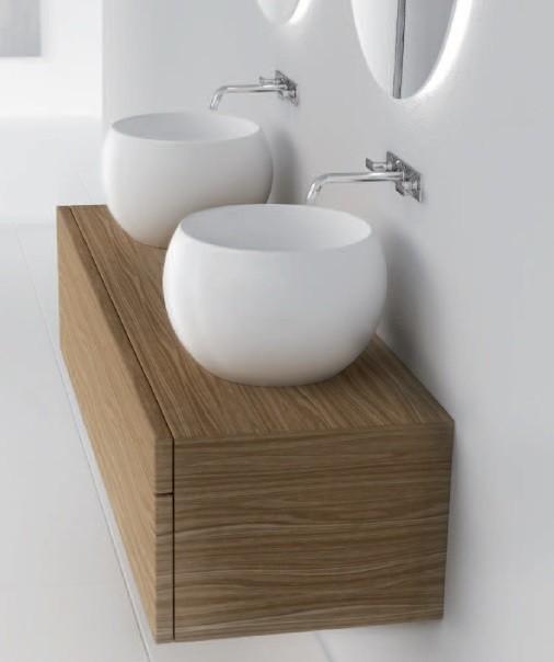 Marmorin umywalka nablatowa Perła bez otworu 40 cm biała 360040020010 __DARMOWA DOSTAWA__