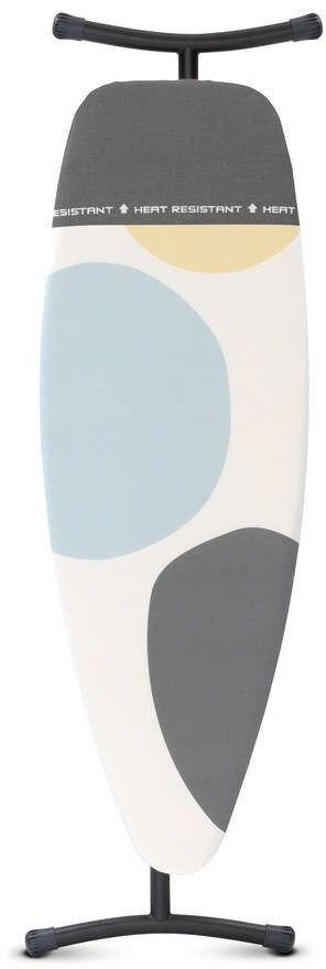 Brabantia - deska do prasowania rozmiar 135 x 45 cm, rama szara metaliczna 35 mm - pokrowiec z miejscem na gorące żelazko - perfectflow - spring bubbles