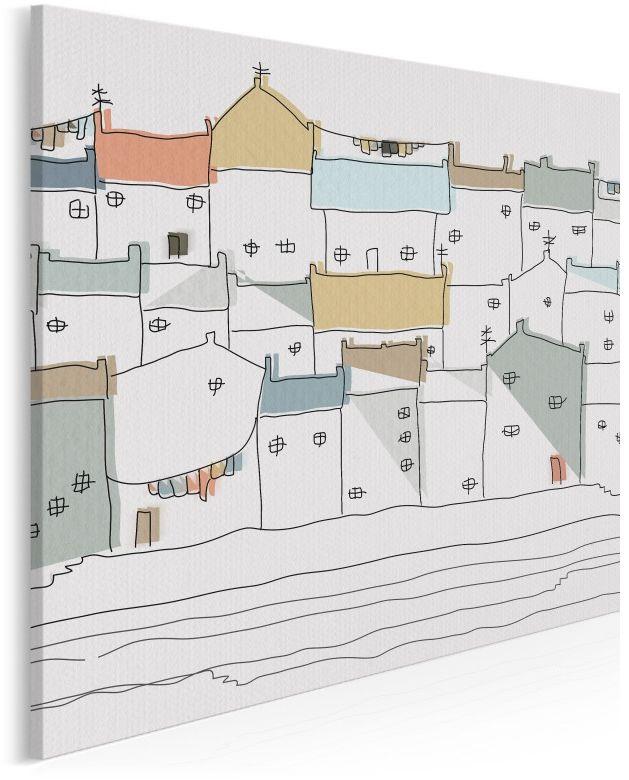 Zamki na piasku - nowoczesny obraz na płótnie - 80x80 cm