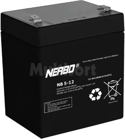 Akumulator kwasowo-ołowiowy NERBO 12V 5Ah żywotność 5 lat