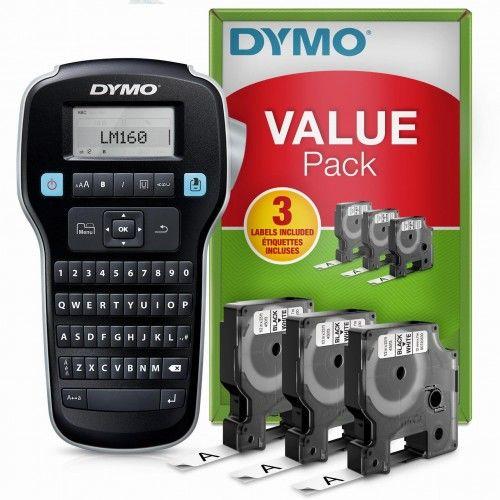 Drukarka Etykiet Dymo LabelManager 160 S0946340 + 3 Taśmy D1 45013