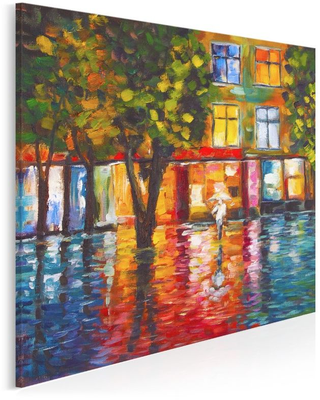 Płynący trotuar - nowoczesny obraz na płótnie - wariant 2 - 80x80 cm