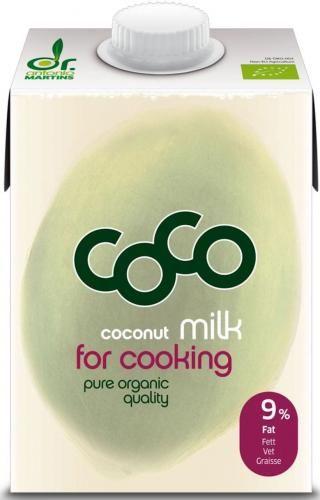 COCONUT MILK - NAPÓJ KOKOSOWY DO GOTOWANIA BIO 500 ml - COCO (DR MARTINS)
