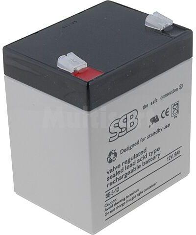 Akumulator kwasowo-ołowiowy SSB 12V 5Ah żywotność 10-12 lat