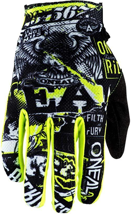 O''Neal Unisex''s Matrix Glove Attack, żółty, 6 UK