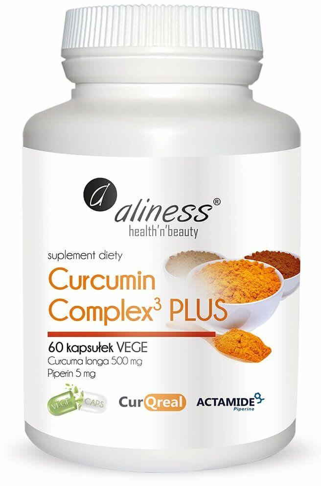 Kurkumina + Piperyna Curcumin C3 Complex PLUS (60 kaps) Aliness