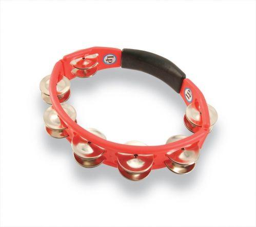 Latin Percussion Tamburyn Cyclop hand held Stalowe dzwonki, czerwony