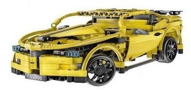 Sportowy samochód wyścigowy - klocki CADA - ZDALNIE STEROWANY (C51008W)