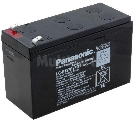 Akumulator kwasowo-ołowiowy PANASONIC 12V 7,2Ah żywotność 6-9 lat