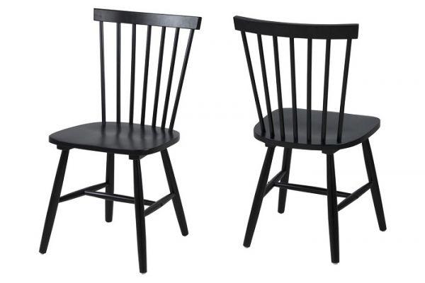 Krzesło ricy czarne drewniane do salonu
