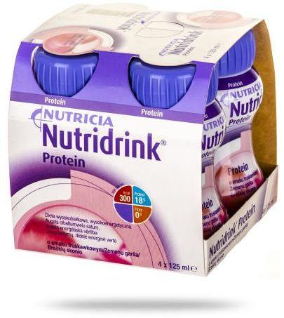 Nutridrink Protein smak truskawkowy 4x 125 ml